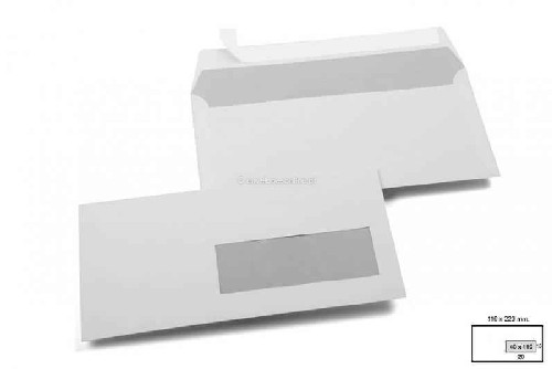 envelope com janela