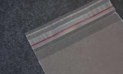 Envelope plástico com aba adesiva