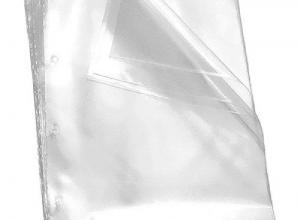 envelope plástico transparente